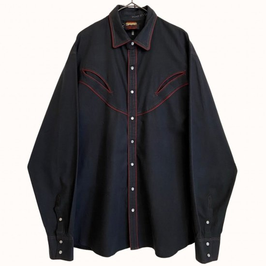 bordeaux piping design western shirt