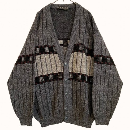 gray color design switch cardigan