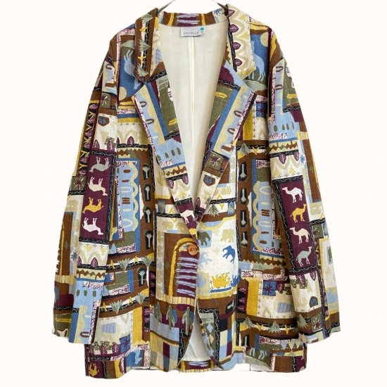 African animal design easy tailored jacket