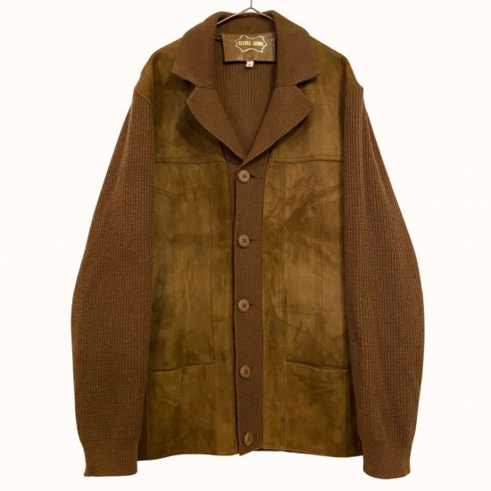 brown suede switch jacket like cardigan