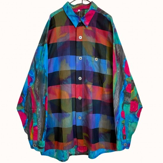 mulch color panel design switching shirt
