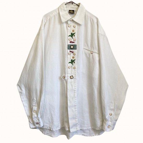 colorful toggle design tyrollean shirt