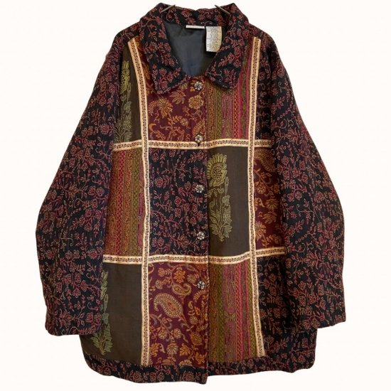 special ethnic pattern patchwork jacket