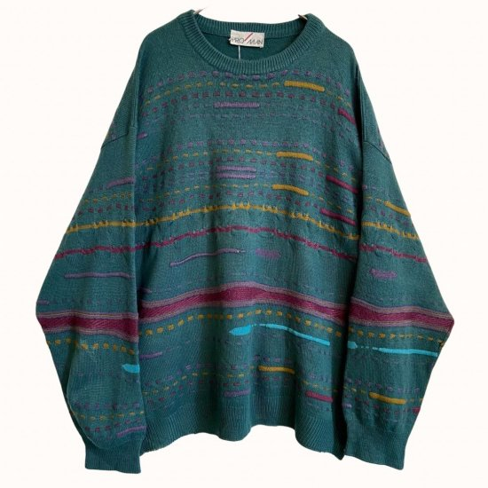 emerald coloring 3D pattern knit