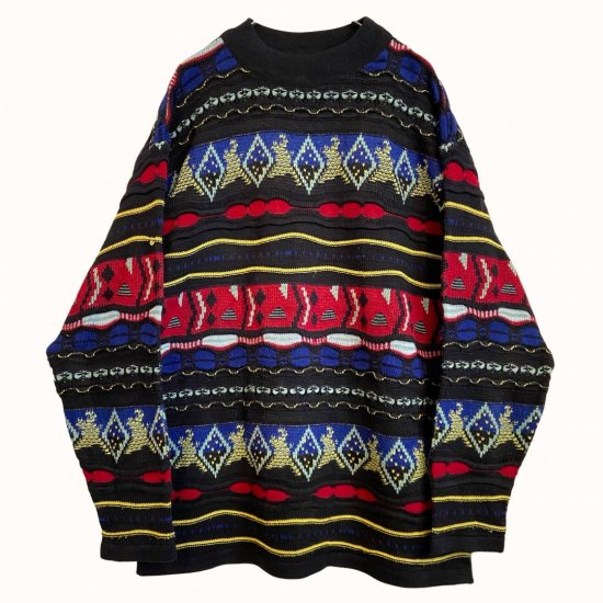 psychedelic coloring 3D design knit