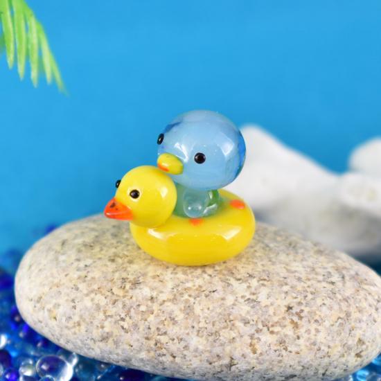【ガラス細工】アヒル浮輪ペンギン