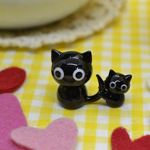 【ガラス細工】ママ大好きネコ