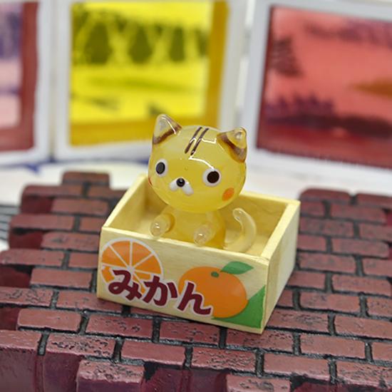 【ガラス細工】トラちゃん拾ってネコ