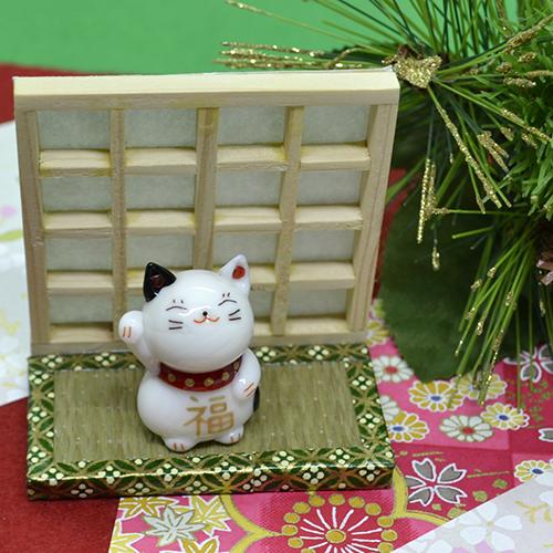 【ガラス細工】招き福ネコ
