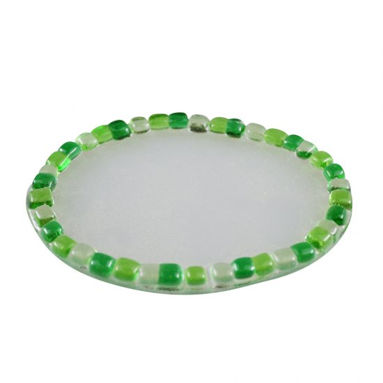 【ガラス細工】NEWモザイクトレー楕円GR