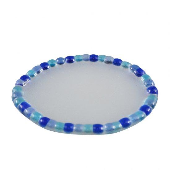 【ガラス細工】NEWモザイクトレー楕円BL