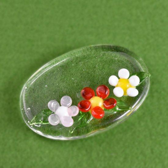 【ガラス細工】ブーケプレート