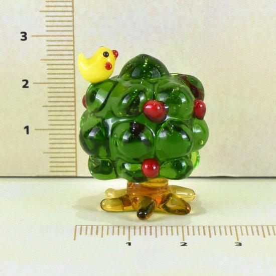 【ガラス細工】木と小鳥