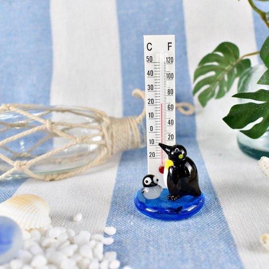 【ガラス細工】温度計ペンギン
