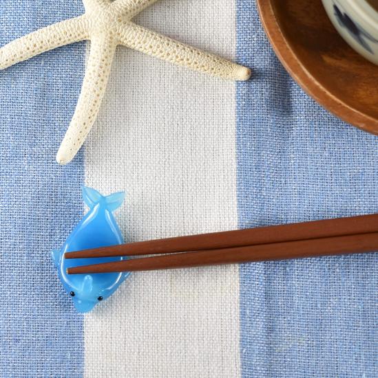 【ガラス細工】イルカ箸置き