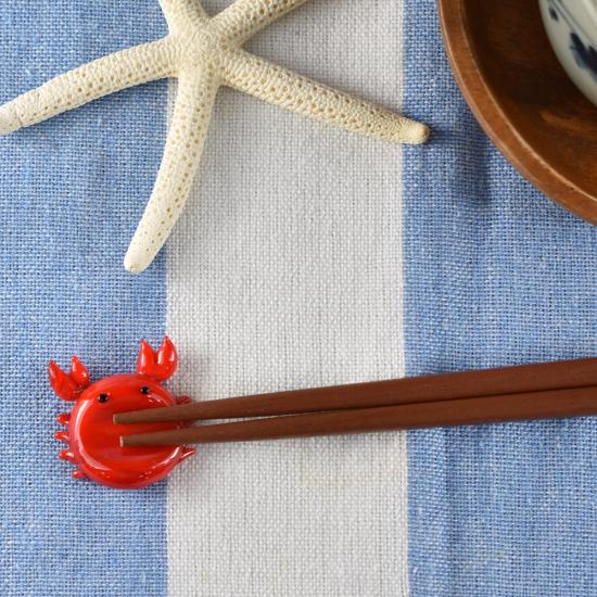 【ガラス細工】カニ箸置き