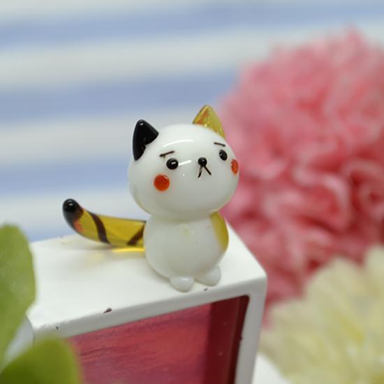 【ガラス細工】三毛猫