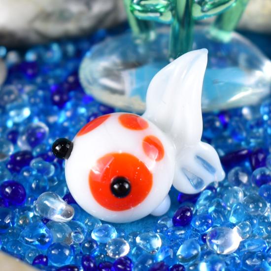 【ガラス細工】赤ブチ金魚