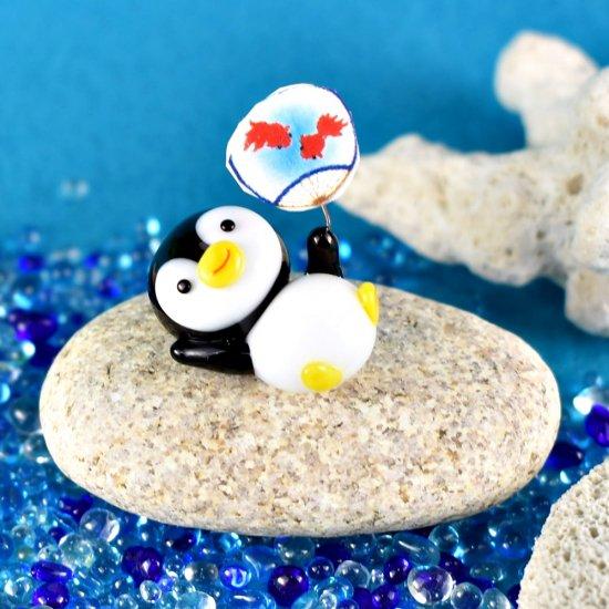 【ガラス細工】うちわペンギン