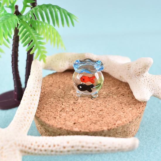 【ガラス細工】三つ足金魚鉢ミニ