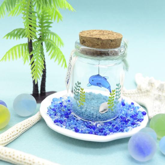 【ガラス細工】プチアクアリウムイルカ