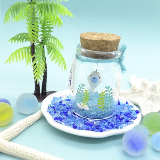 【ガラス細工】プチアクアリウムアザラシ