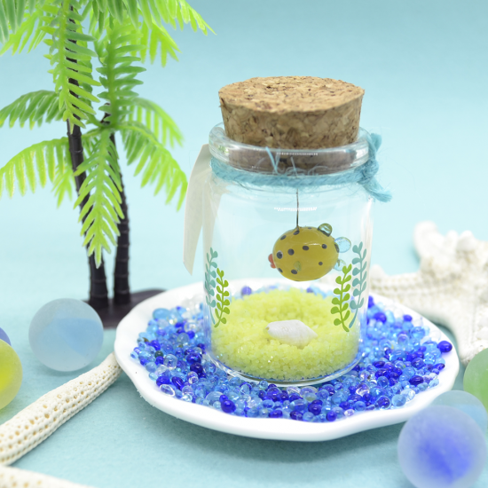 【ガラス細工】プチアクアリウムハコフグ