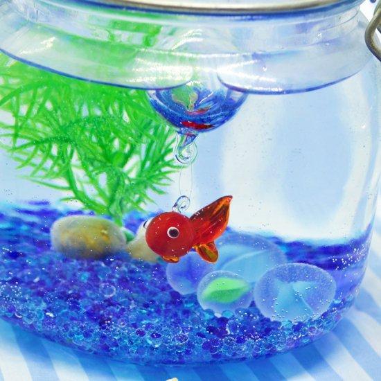 【ガラス細工】浮玉赤金魚