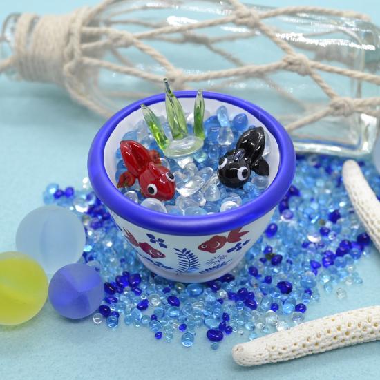 【ガラス細工】睡蓮鉢ペア金魚セット
