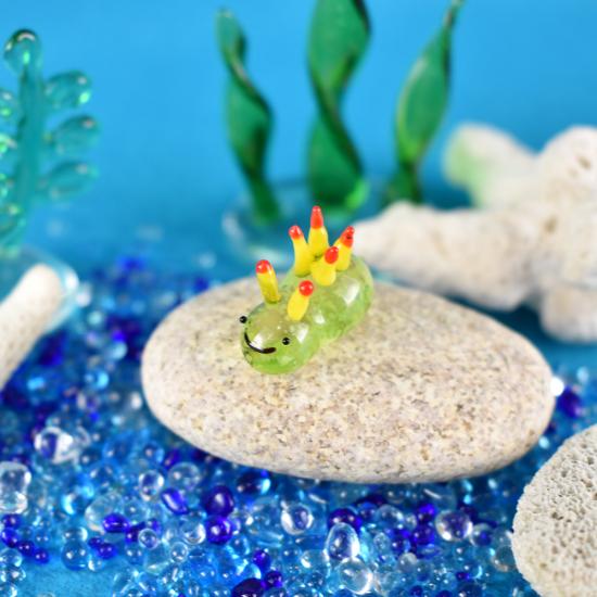 【ガラス細工】光るウミウシ