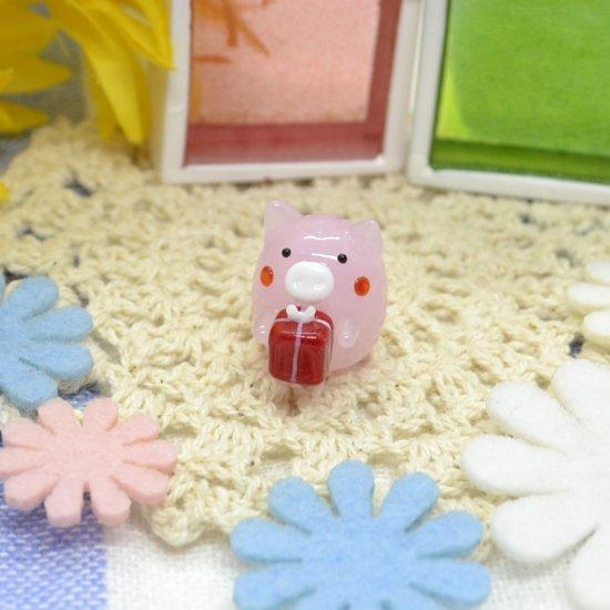 【ガラス細工】プレゼントブタ