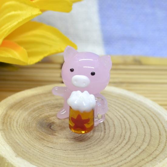 【ガラス細工】生ビールブタ
