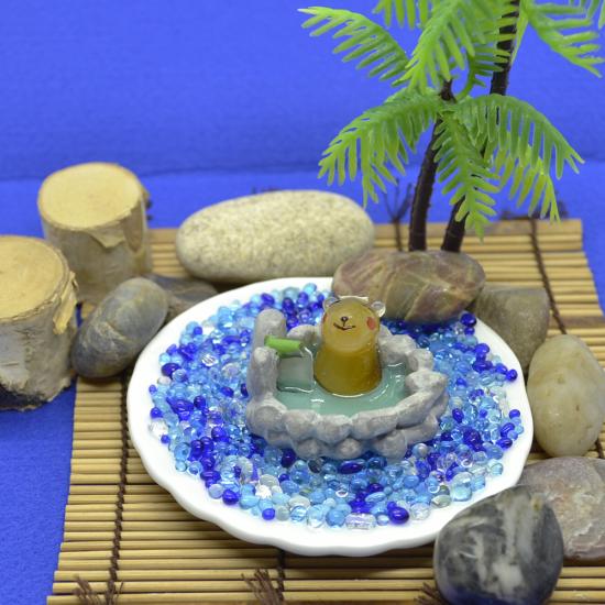 【ガラス細工】露天風呂カピバラ