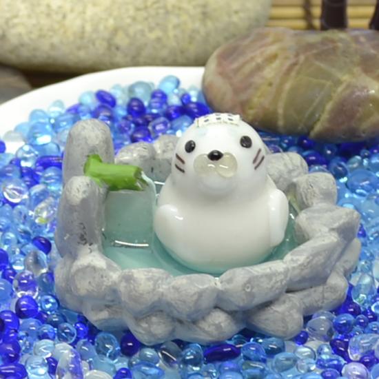 【ガラス細工】露天風呂アザラシ
