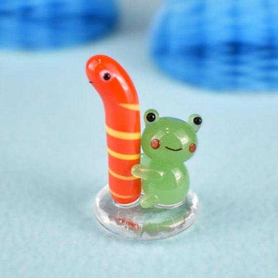 【ガラス細工】ニシキアナゴ好きカエル