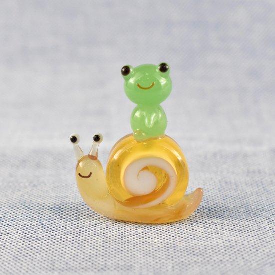 【ガラス細工】カタツムリ乗りカエル