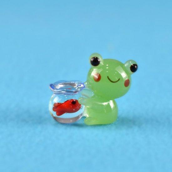 【ガラス細工】カエルと金魚鉢