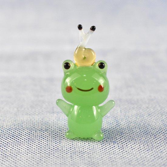 【ガラス細工】カエルとでんでん虫