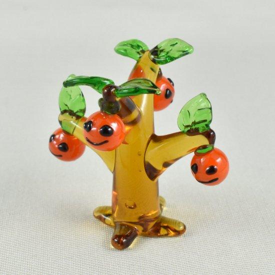 【ガラス細工】プチかぼちゃの木