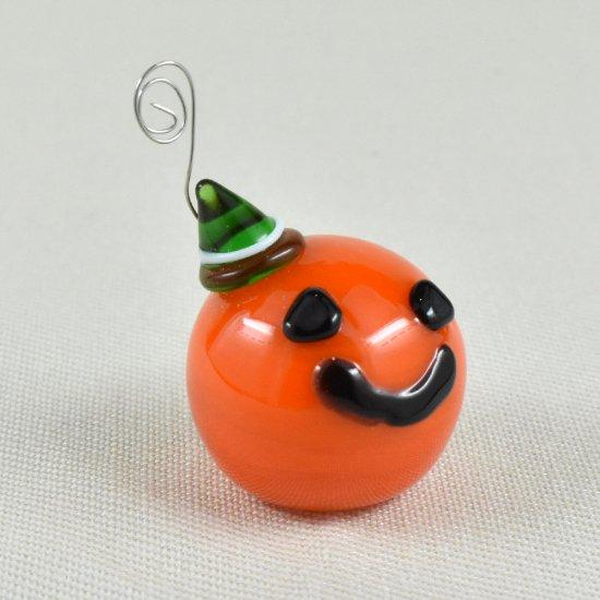 【ガラス細工】グリーンハットかぼちゃ