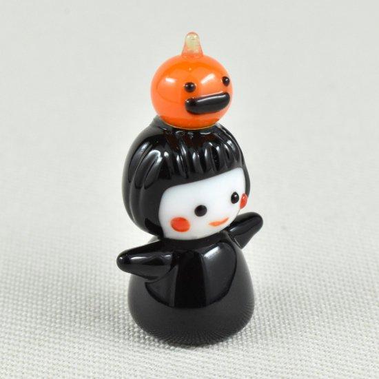 【ガラス細工】かぼちゃのっけ魔女