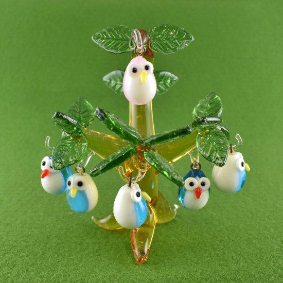 【ガラス細工】スモールフクロウツリー