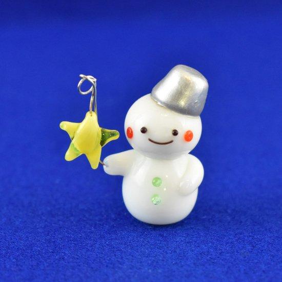 【ガラス細工】ゆらゆら星の雪だるま