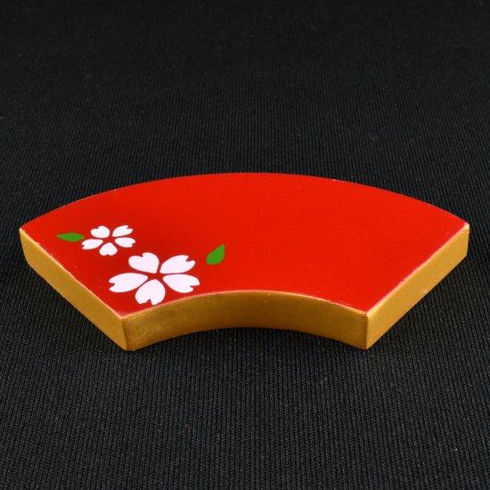 【ミニチュア飾り】赤扇台