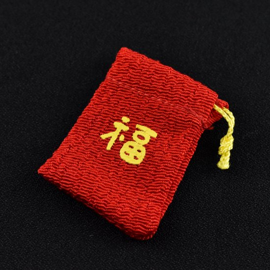 【ガラス細工】赤小袋
