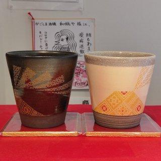 【送料無料】白薩摩、黒薩摩、紬もんセット《御茶碗屋つきの虫》鹿児島市【薩摩焼】