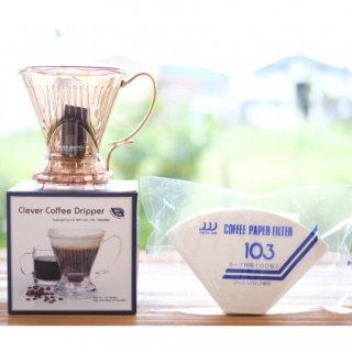 Lサイズ クレバーコーヒードリッパー + 【コーヒーフィルター103 100枚付き】
