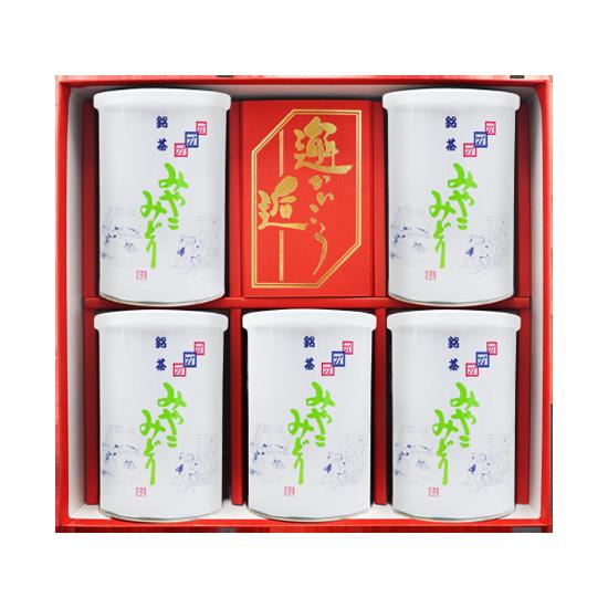 みやこみどり【松印】 (商品番号BK-5) 90g×5缶詰