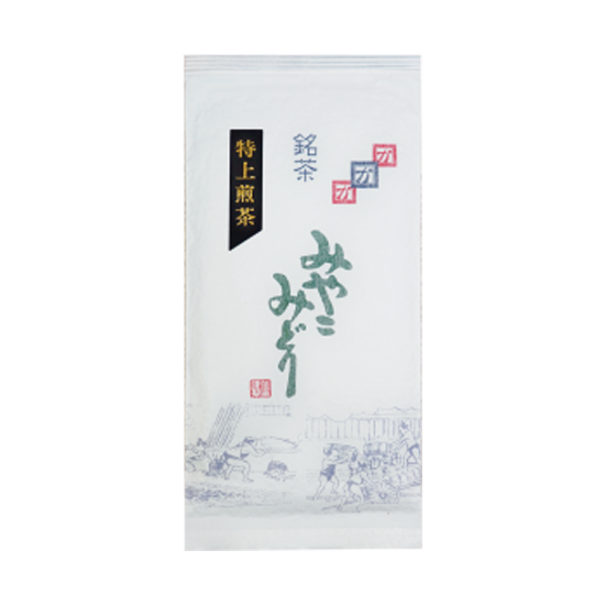 特上みやこみどり【都印】 (商品番号AF-1) 100g袋詰