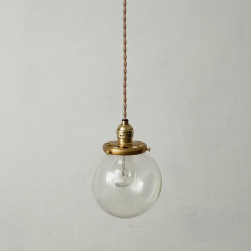OPL008<br>GLASS SHADE LAMP-S size CL / 真鍮ガラスシェード照明